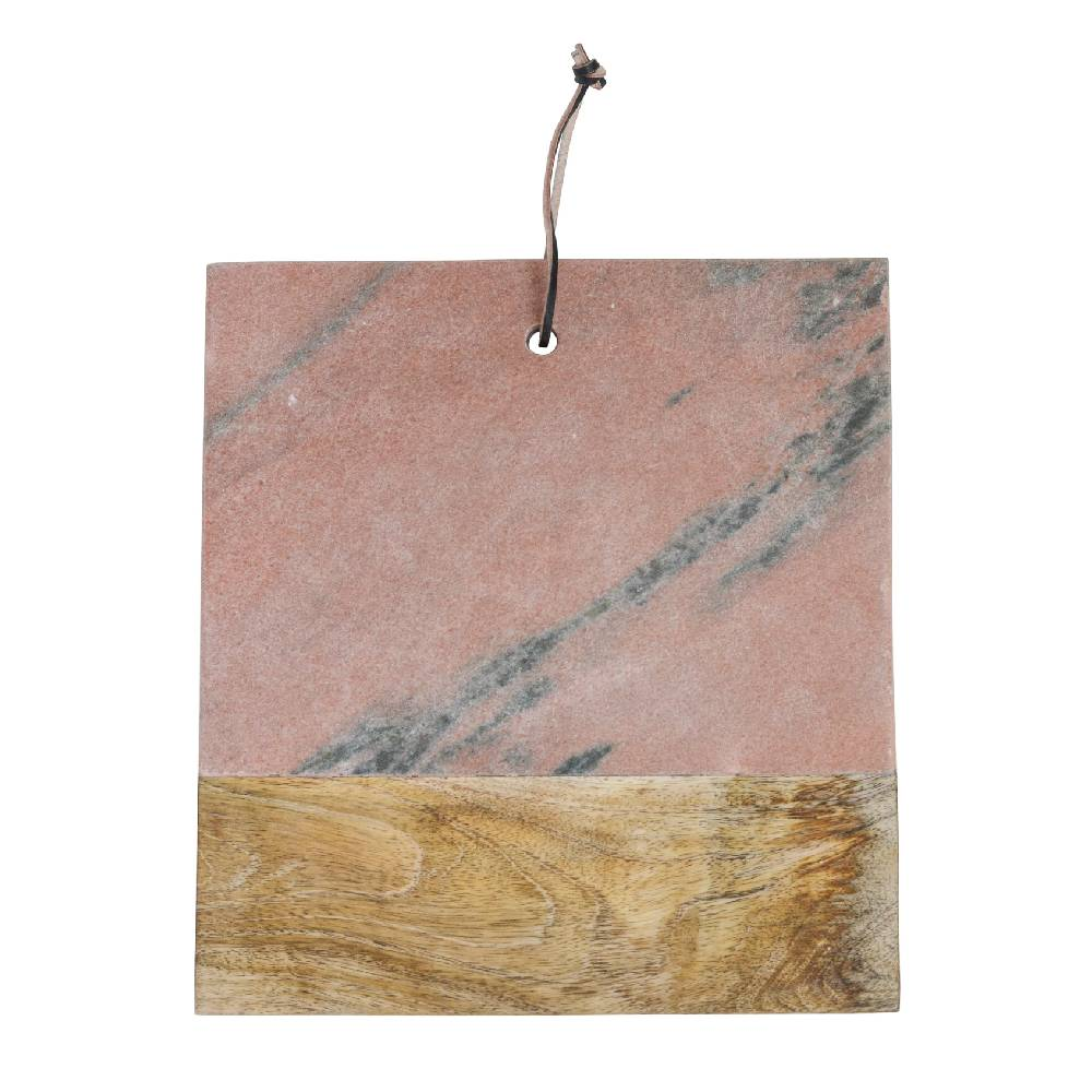 Marble and Mango Wood Cutting Board HOME & GIFTS - Tabletop + Kitchen - Kitchen Decor Creative Co-op Teskeys