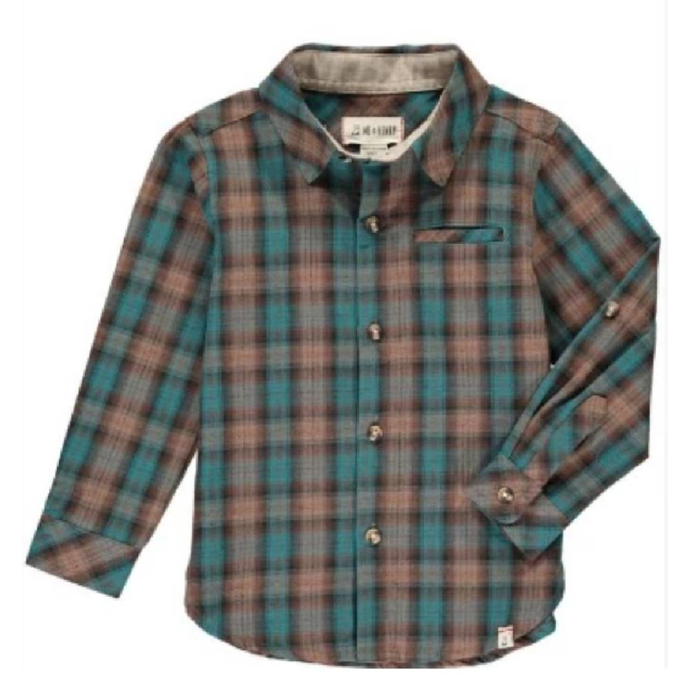 Me & Henry Plaid Button Shirt KIDS - Boys - Clothing - Shirts - Long Sleeve Shirts Me & Henry Teskeys