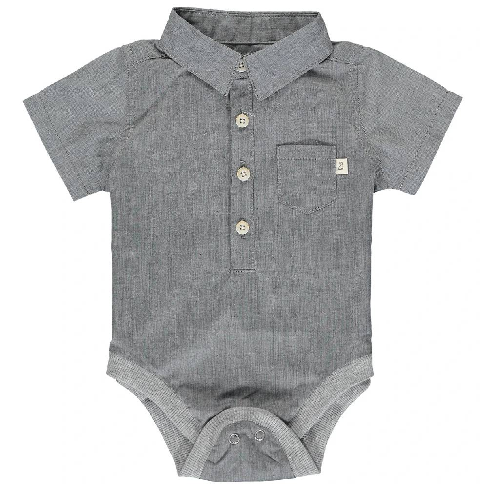 Me & Henry Solid Woven Onesie KIDS - Baby - Baby Boy Clothing Me & Henry Teskeys