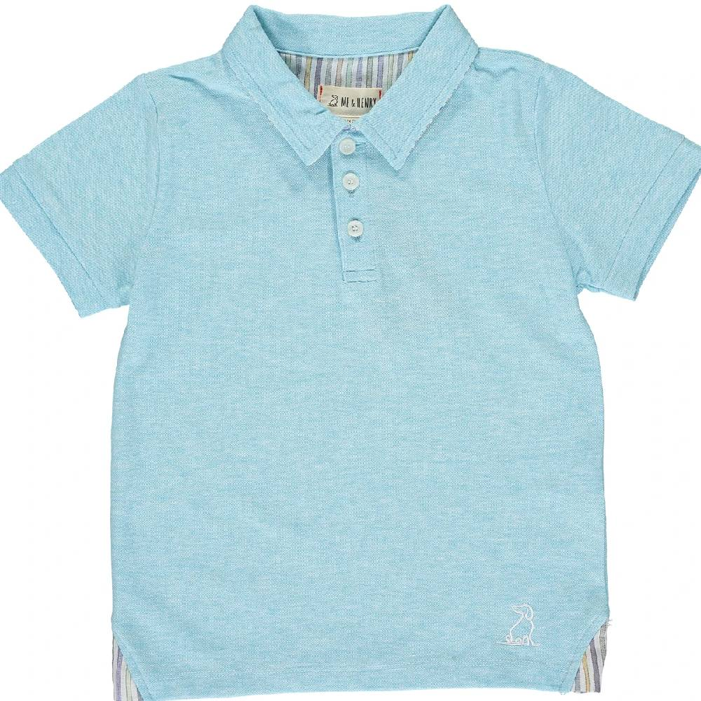 Me & Henry Solid Cotton Polo KIDS - Baby - Baby Boy Clothing Me & Henry Teskeys