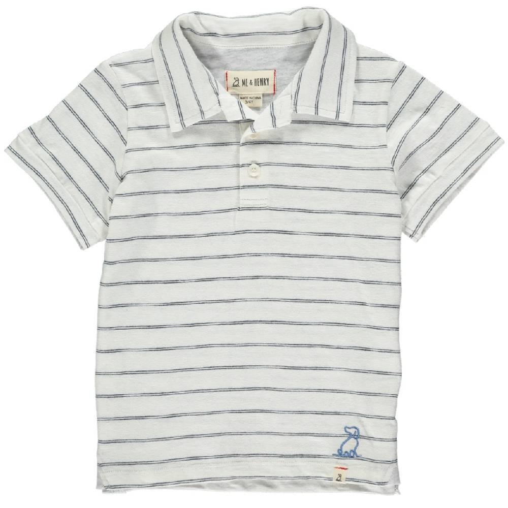 Me & Henry Striped Cotton Polo KIDS - Baby - Baby Boy Clothing Me & Henry Teskeys