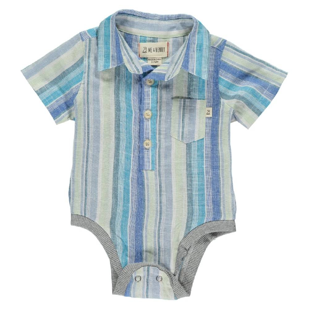 Me & Henry Boy's Striped Onesie KIDS - Baby - Baby Boy Clothing Me & Henry Teskeys