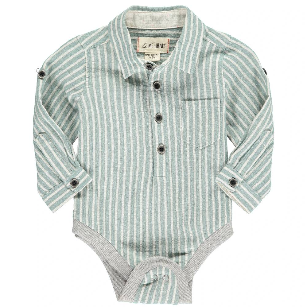Me & Henry Striped Woven Onesie KIDS - Baby - Baby Boy Clothing Me & Henry Teskeys
