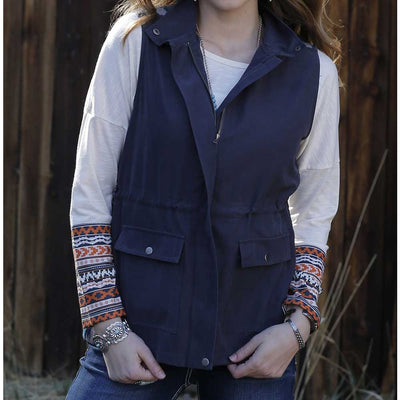 Cinch Mixed Media Suede Vest WOMEN - Clothing - Outerwear - Vests CINCH Teskeys