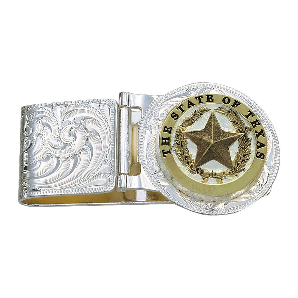 Montana Silversmiths Texas Star Hinged Money Clip MEN - Accessories - Wallets & Money Clips Montana Silversmiths Teskeys