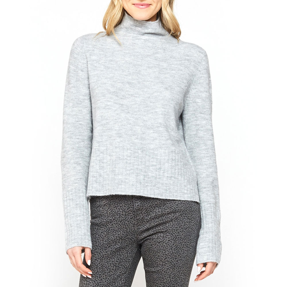 Montserrat Shaded Grey Mock Neck Sweater WOMEN - Clothing - Sweaters & Cardigans VELVET HEART Teskeys