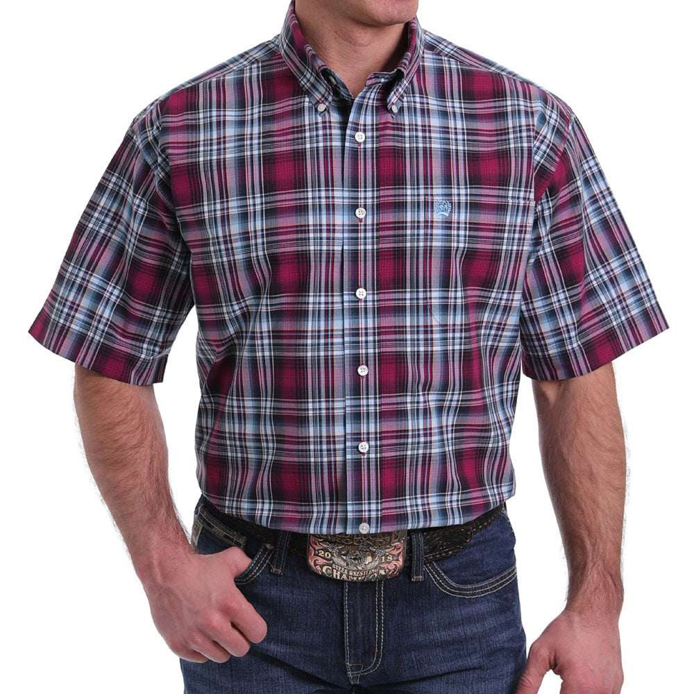 Cinch Men's Plaid Button Down Shirt MEN - Clothing - Shirts - Short Sleeve Shirts CINCH Teskeys