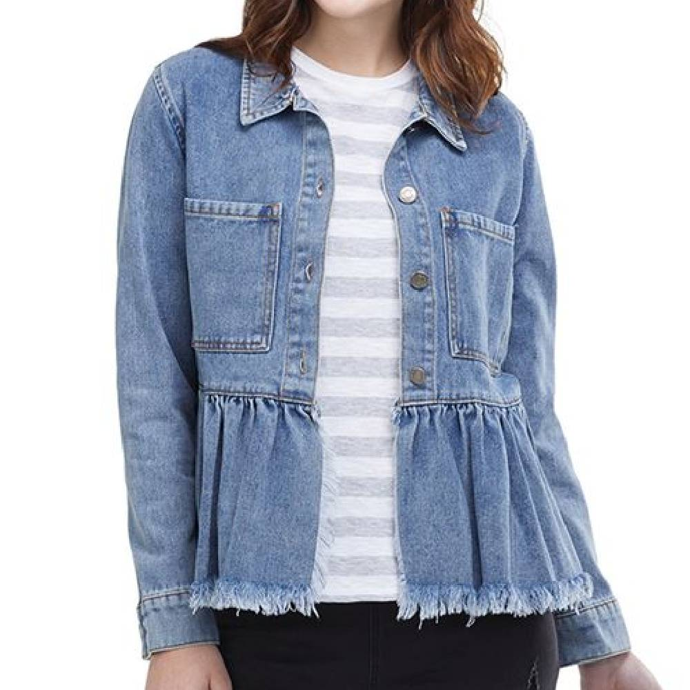 Mud Pie Banks Denim Jacket WOMEN - Clothing - Outerwear - Jackets Mud Pie Teskeys