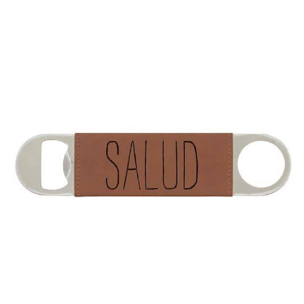 Mud Pie Leather Bottle Opener - Salud HOME & GIFTS - Tabletop + Kitchen - Bar Accessories Mud Pie Teskeys