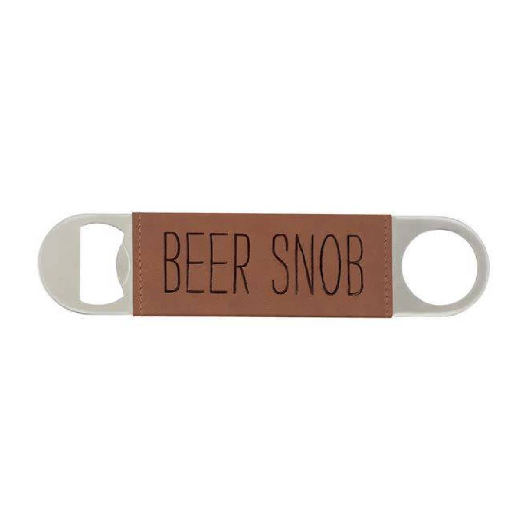 Mud Pie Leather Bottle Opener - Beer Snob HOME & GIFTS - Tabletop + Kitchen - Bar Accessories Mud Pie Teskeys
