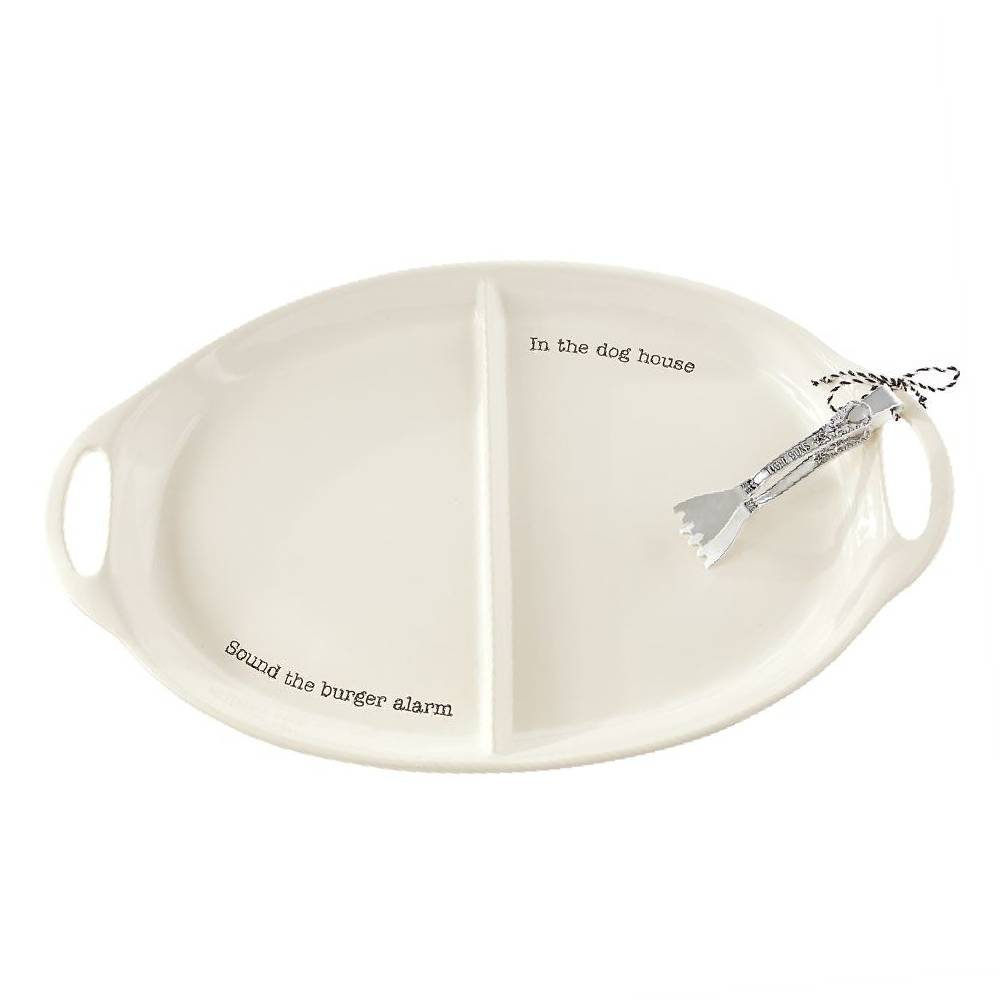 Mud Pie Burger & Hotdog Platter Set HOME & GIFTS - Tabletop + Kitchen - Serveware & Utensils Mud Pie Teskeys