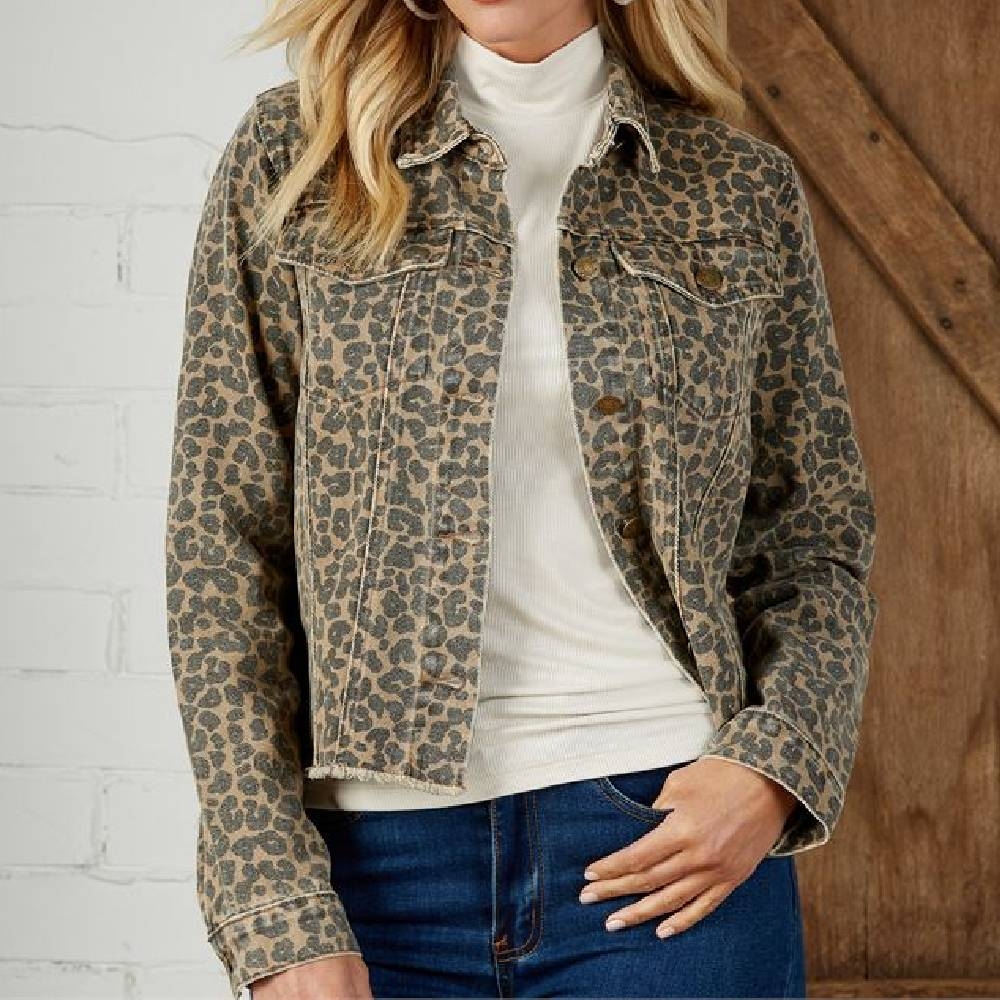 Mud Pie Colton Leopard Jacket WOMEN - Clothing - Outerwear - Jackets Mud Pie Teskeys