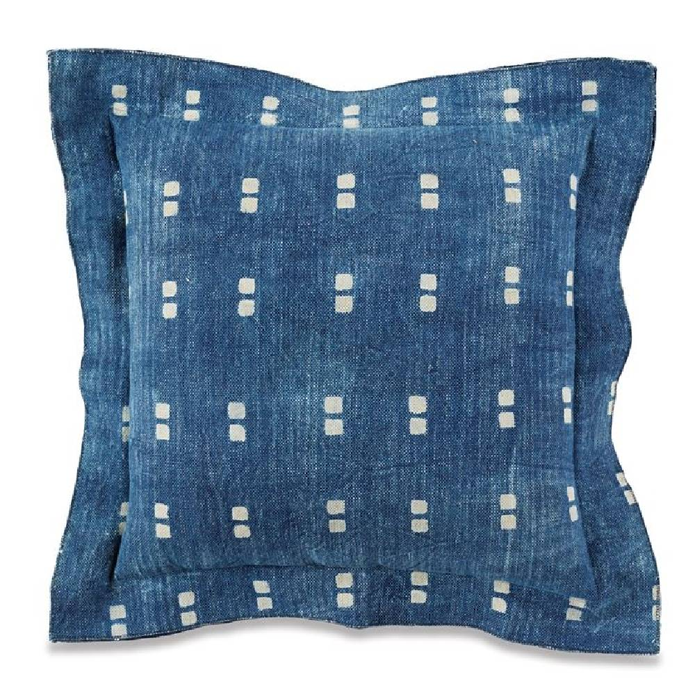 Mud Pie Dot Square Bungalow Pillow HOME & GIFTS - Home Decor - Decorative Pillows Mud Pie Teskeys