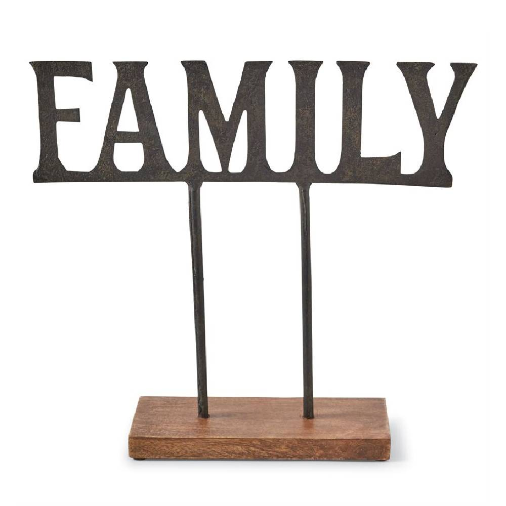 Mud Pie Family Metal Sitter HOME & GIFTS - Home Decor - Decorative Accents Mud Pie Teskeys