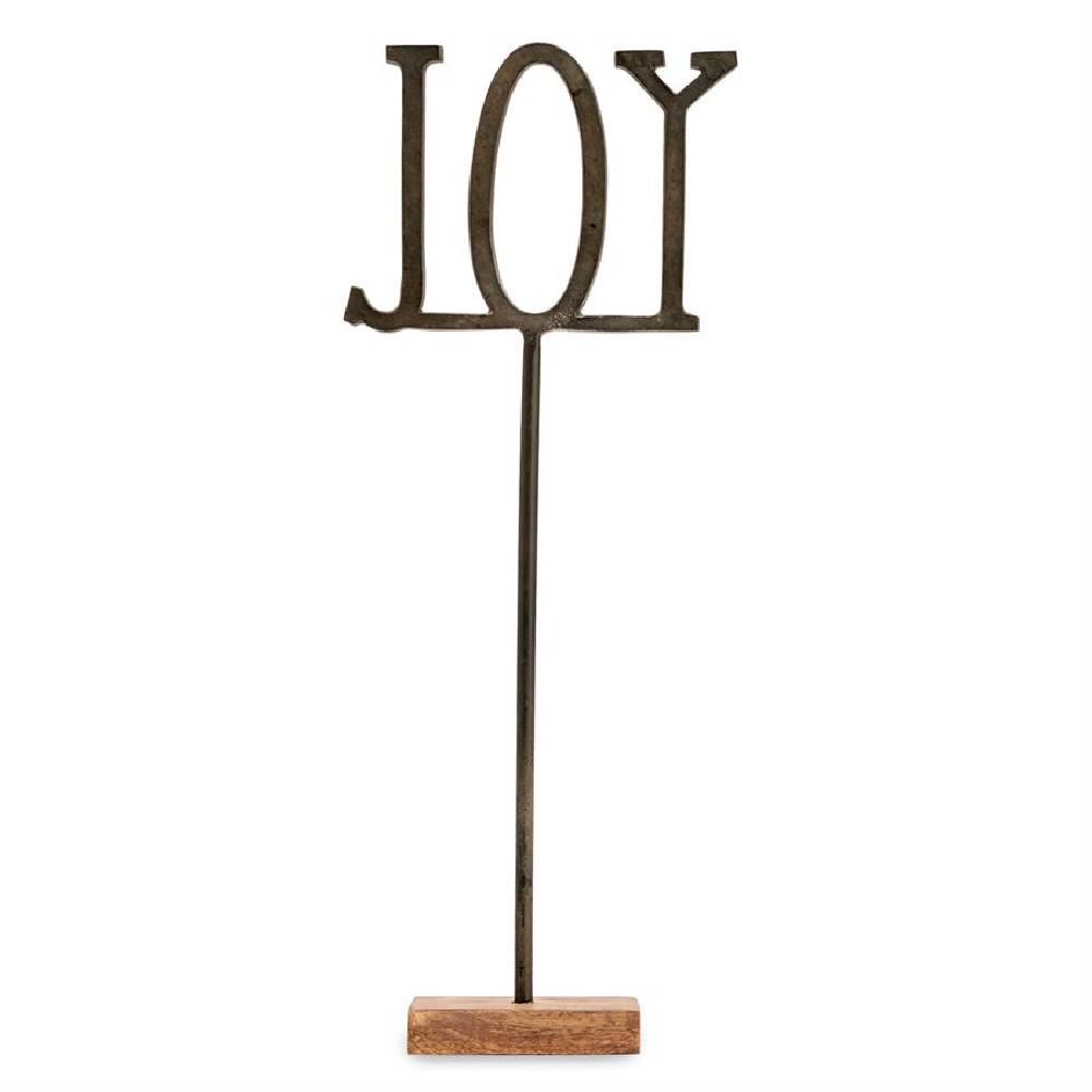Mud Pie Joy Cast Iron Sentiment Sitter HOME & GIFTS - Home Decor - Decorative Accents Mud Pie Teskeys