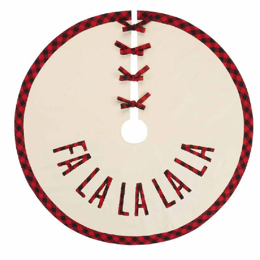 Mud Pie Fa La La Tree Skirt HOME & GIFTS - Home Decor - Seasonal Decor Mud Pie Teskeys