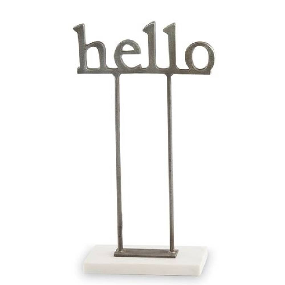 Mud Pie Hello Sentiment Sitter HOME & GIFTS - Home Decor - Decorative Accents Mud Pie Teskeys