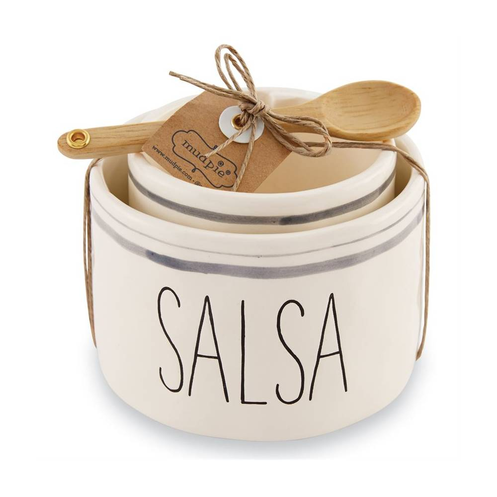 Mud Pie Salsa & Guacamole Bowl Set HOME & GIFTS - Tabletop + Kitchen - Serveware & Utensils Mud Pie Teskeys