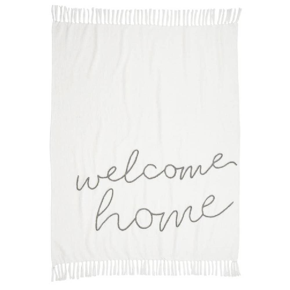 Mud Pie Welcome Home Blanket HOME & GIFTS - Home Decor - Blankets + Throws Mud Pie Teskeys
