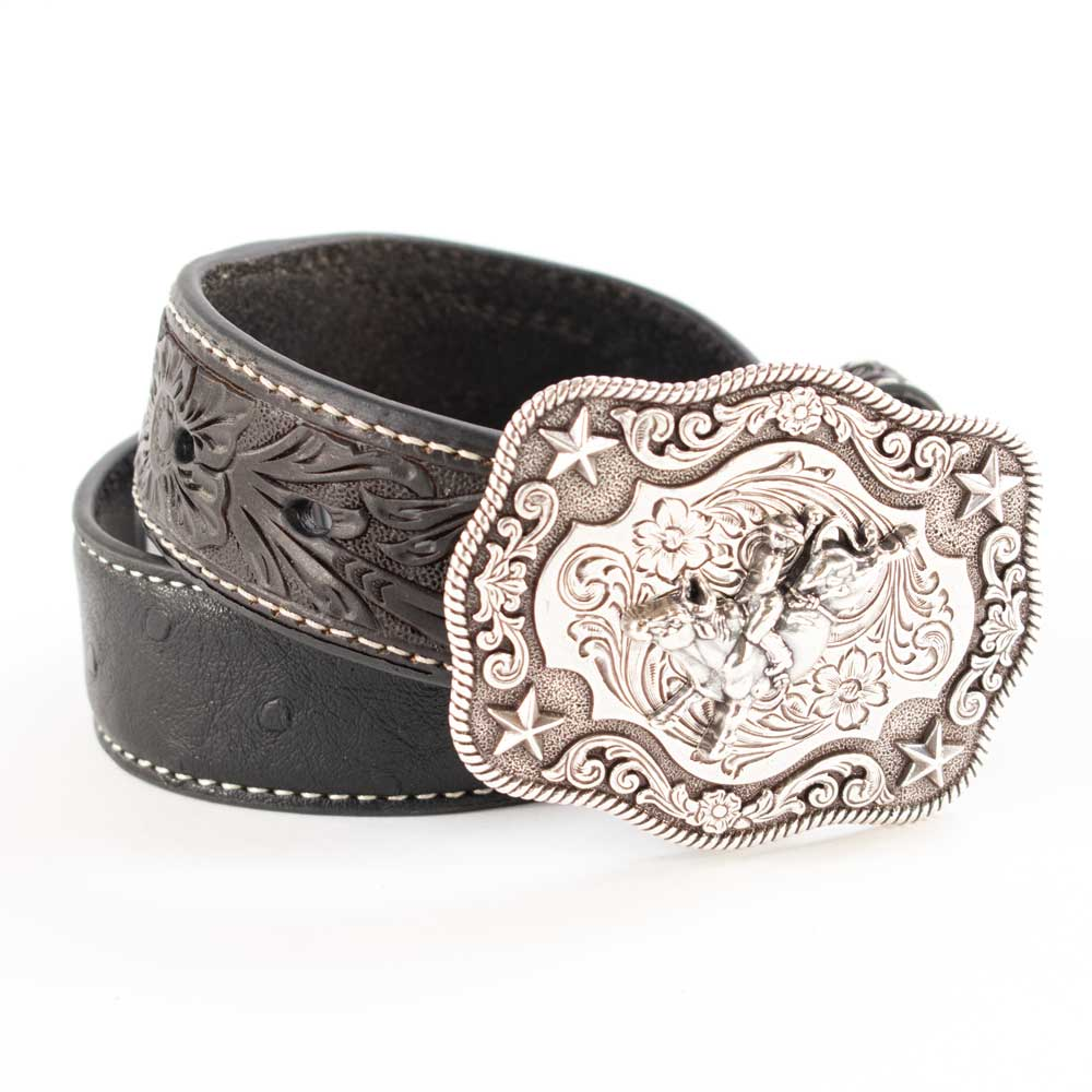 Nocona Ostrich Strap Belt KIDS - Accessories - Belts M&F Western Products Teskeys