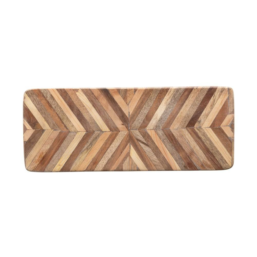 Mango Wood Chevron Pattern Board HOME & GIFTS - Tabletop + Kitchen - Serveware & Utensils Creative Co-Op Teskeys