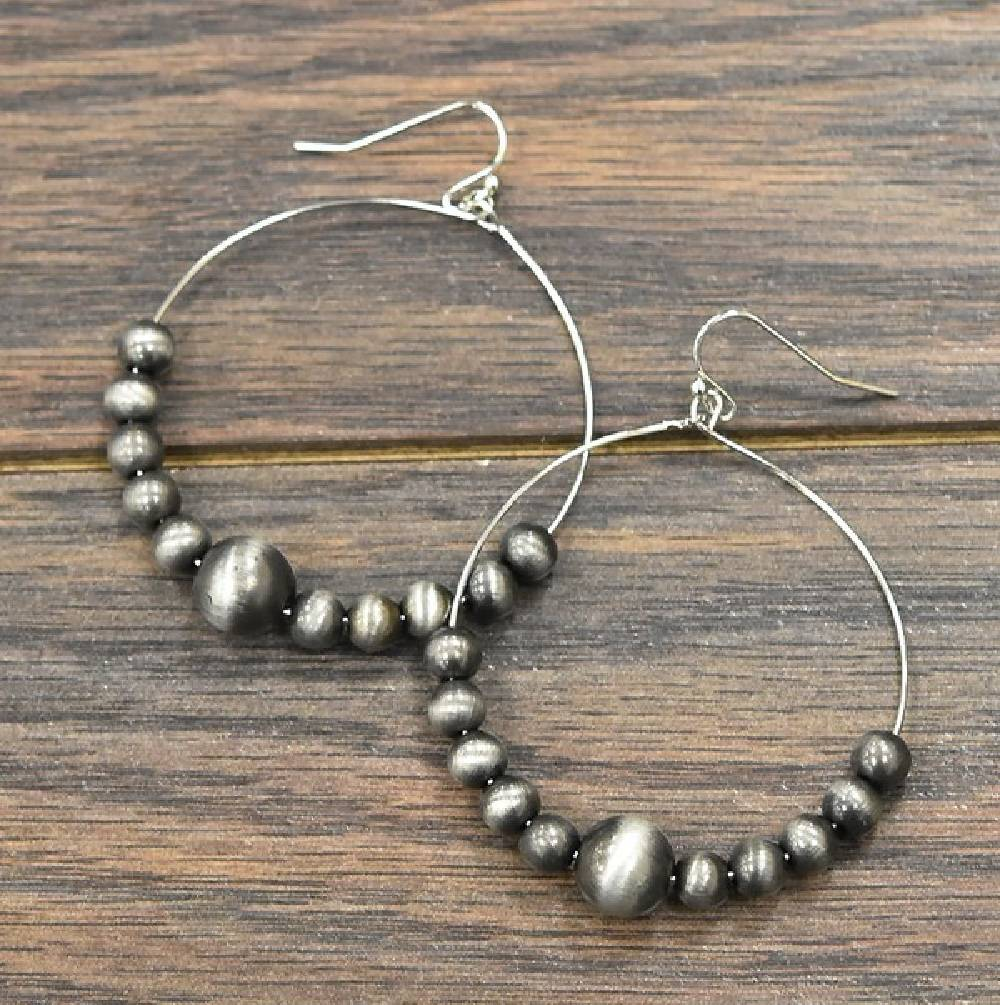 Multi Size Desert Pearl Hoop Earring WOMEN - Accessories - Jewelry - Earrings ISAC TRADING Teskeys