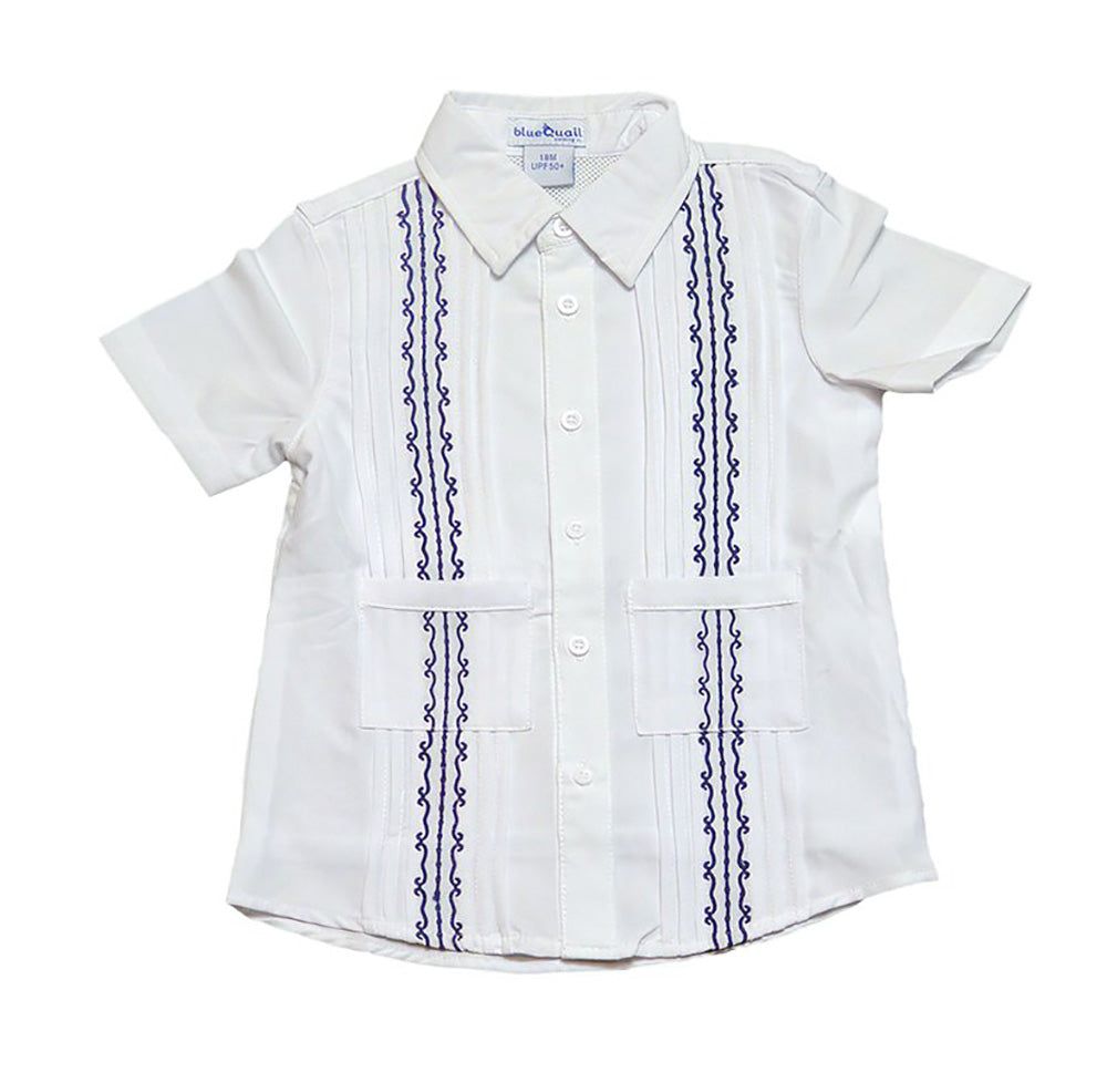 Short Sleeve Boys Button Up Shirt KIDS - Boys - Clothing - Shirts - Short Sleeve Shirts BLUE QUAIL CLOTHING CO. Teskeys