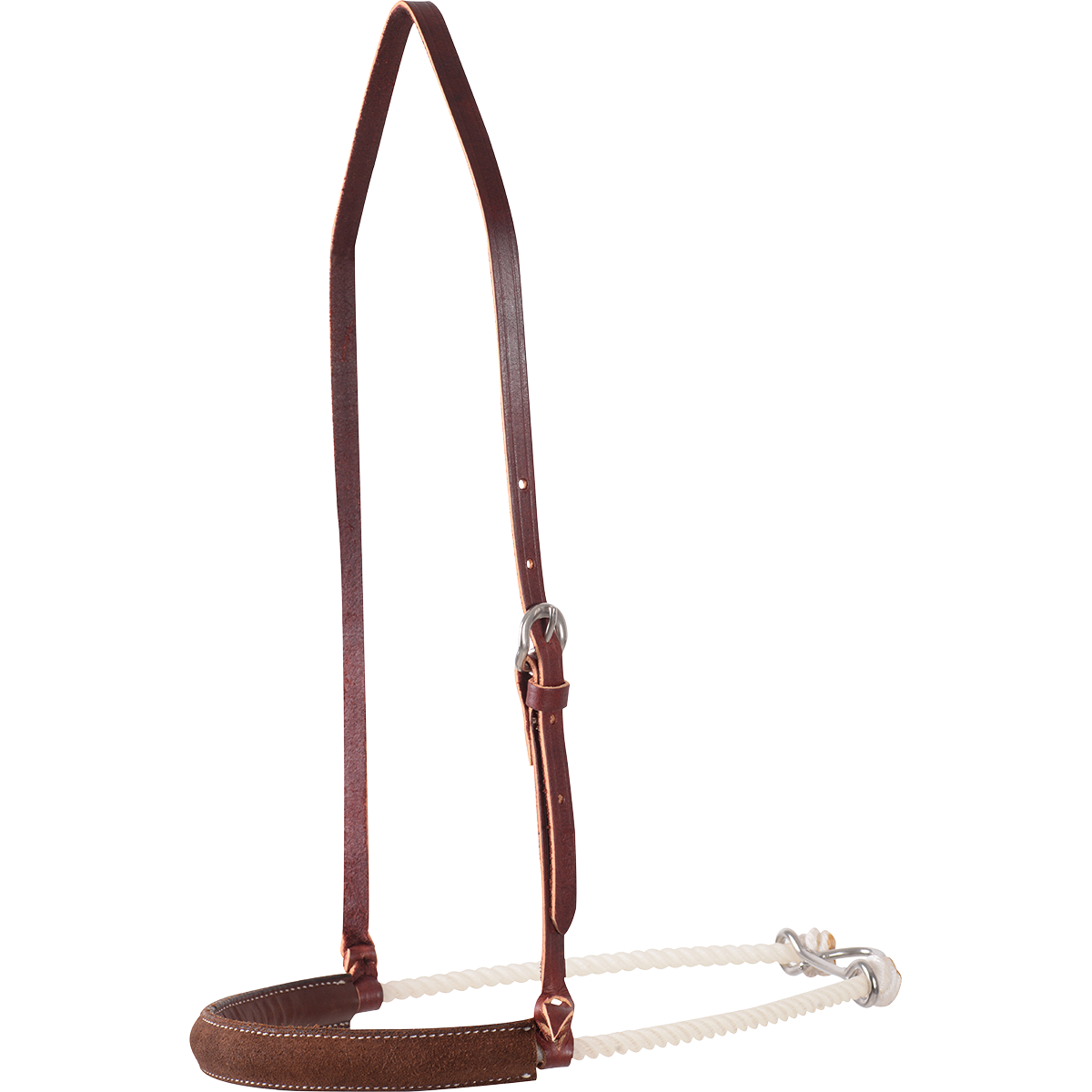 MARTIN SADDLERY CHOCOLATE ROUGHOUT NOSEBAND Tack - Nosebands & Tie Downs Martin Saddlery Teskeys