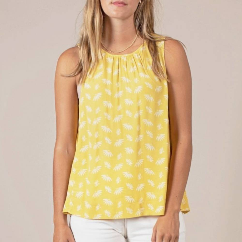 Nea Yellow Top WOMEN - Clothing - Tops - Sleeveless MOD REF Teskeys