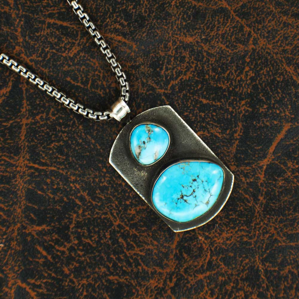 Comstock Heritage Turquoise Dog Tag Necklace WOMEN - Accessories - Jewelry - Necklaces COMSTOCK HERITAGE Teskeys