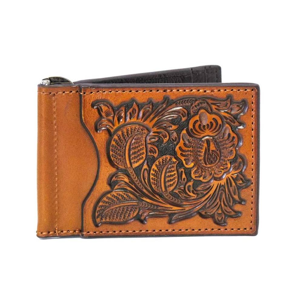 Nocona Tooled Bi-Fold Money Clip MEN - Accessories - Wallets & Money Clips M&F WESTERN PRODUCTS Teskeys