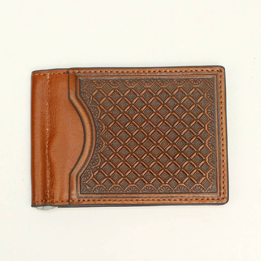 Nocona Diamond Weave Money Clip Bi-Fold Wallet MEN - Accessories - Wallets & Money Clips M&F WESTERN PRODUCTS Teskeys
