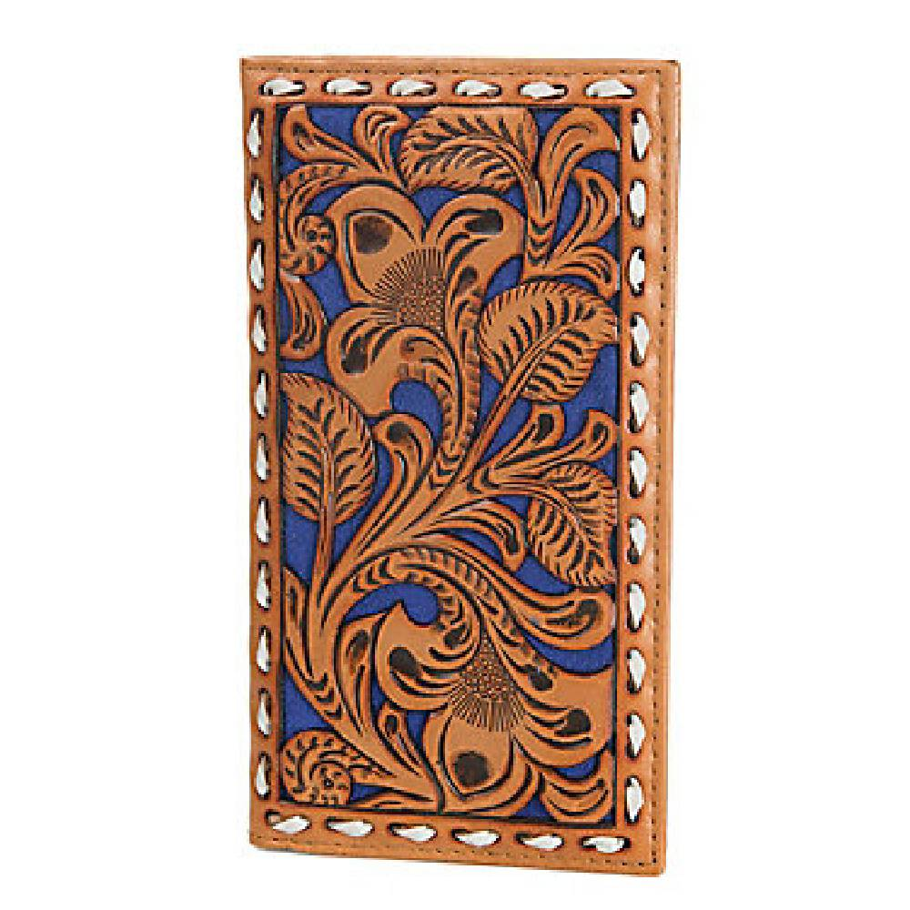 Nocona Tooled Overlay Buckstitch Rodeo Wallet MEN - Accessories - Wallets & Money Clips M&F Western Products Teskeys