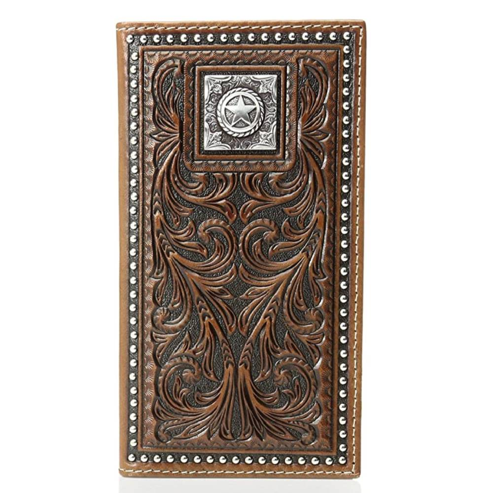 Nocona Tooled Star Concho Rodeo Wallet MEN - Accessories - Wallets & Money Clips M&F Western Products Teskeys