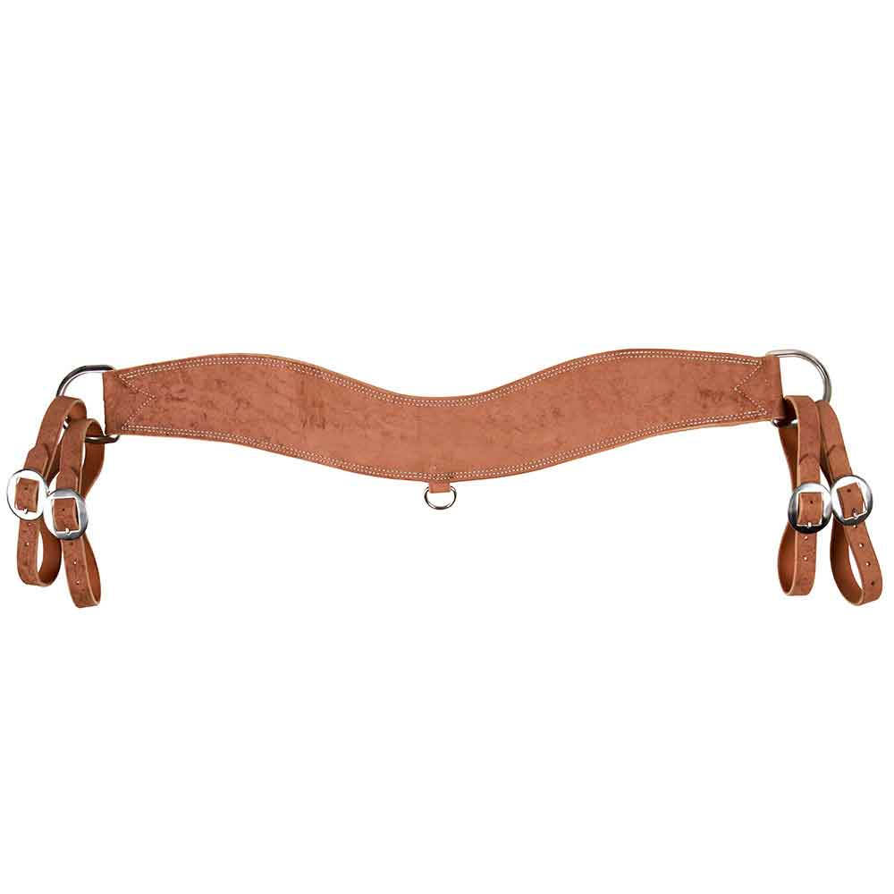 Teskey's Chestnut Roughout Steer Tripping Collar Tack - Breast Collars Teskey's Teskeys