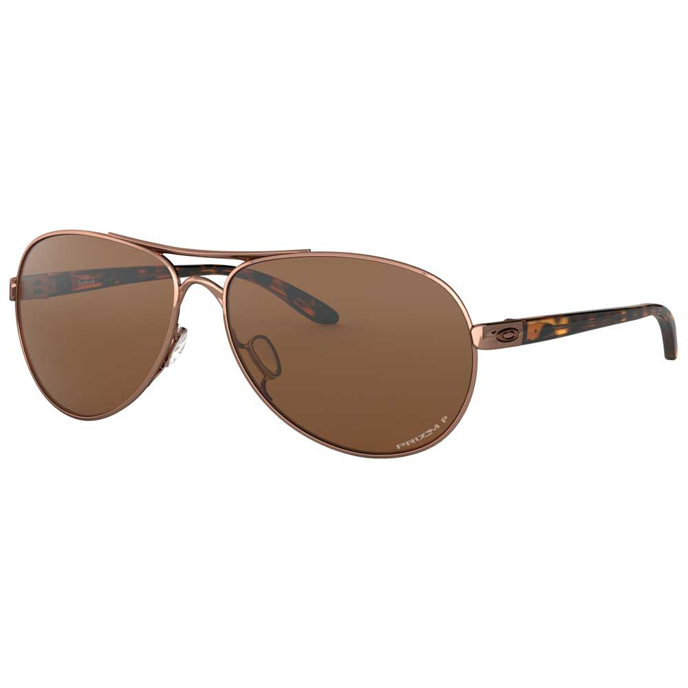 Oakley Feedback Rose Gold w/Prizm Tungsten Polarized Metal Sunglasses ACCESSORIES - Additional Accessories - Sunglasses OAKLEY SALES CORP Teskeys