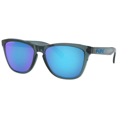 Oakley Frogskins Crystal Black w/Prizm Sapphire Polarized Injected Sunglasses ACCESSORIES - Additional Accessories - Sunglasses OAKLEY SALES CORP Teskeys