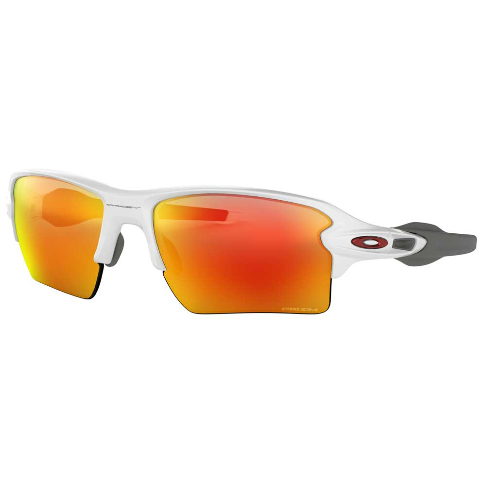 Oakley Flak 2.0 XL Polished White w/Prizm Ruby Injected Sunglasses ACCESSORIES - Additional Accessories - Sunglasses OAKLEY SALES CORP Teskeys
