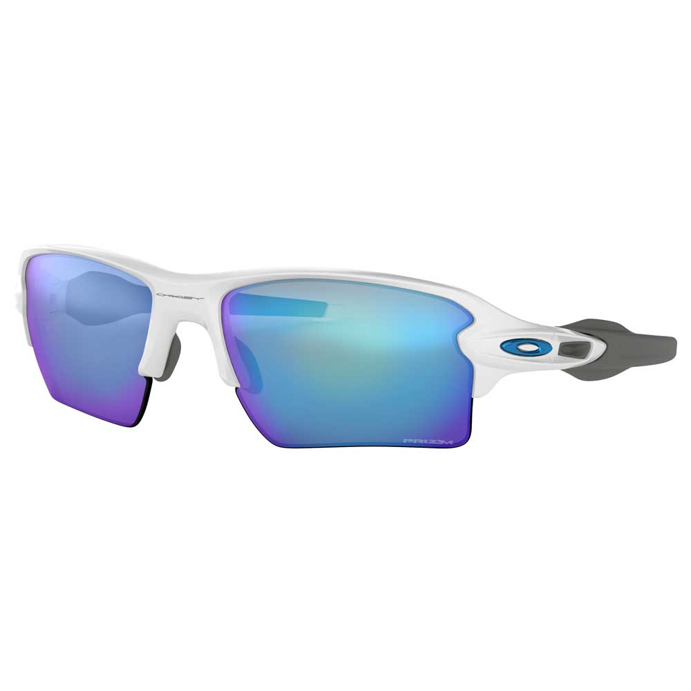 Oakley Flak 2.0 XL Polished White w/Prizm Sapphire Injected Sunglasses ACCESSORIES - Additional Accessories - Sunglasses OAKLEY SALES CORP Teskeys
