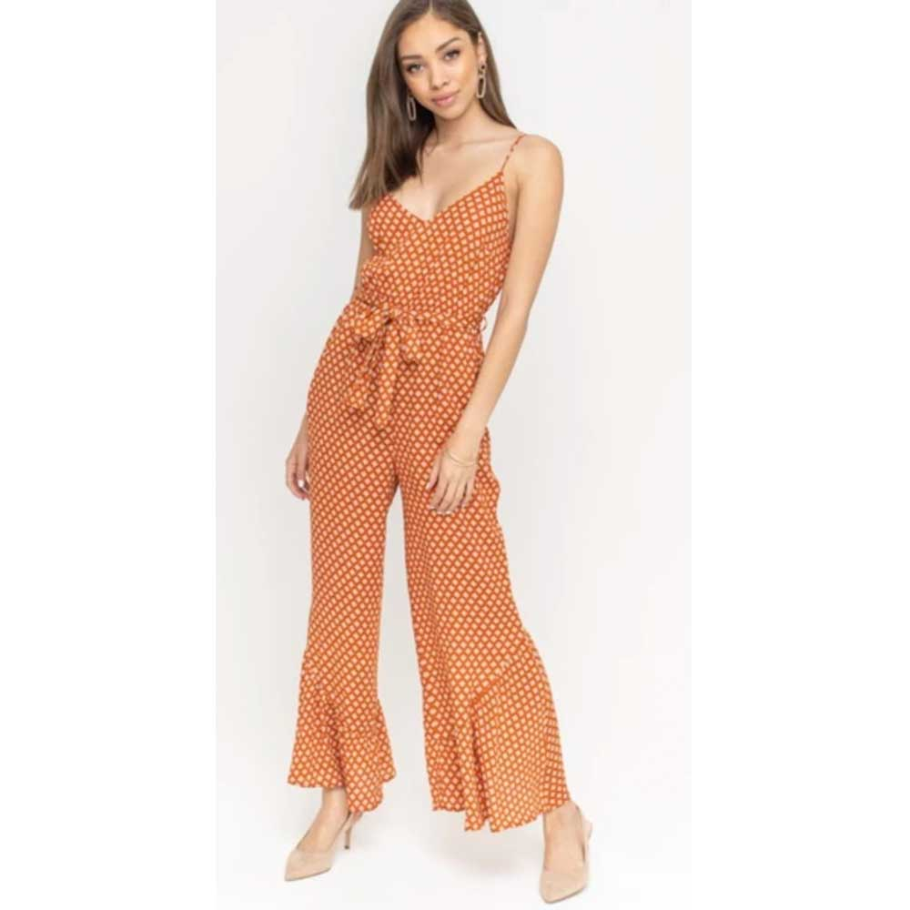 Lush Desert Sun Printed Jumpsuit WOMEN - Clothing - Jumpsuits & Rompers LUSH Teskeys