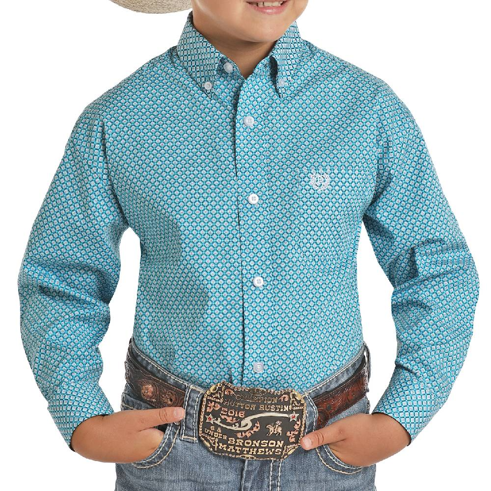 Panhandle Boys Print Button Down Shirt KIDS - Boys - Clothing - Shirts - Long Sleeve Shirts Panhandle Teskeys