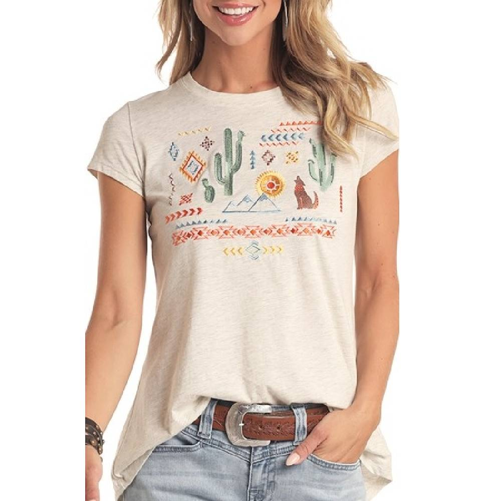 Panhandle Southwest Embroidered Tee