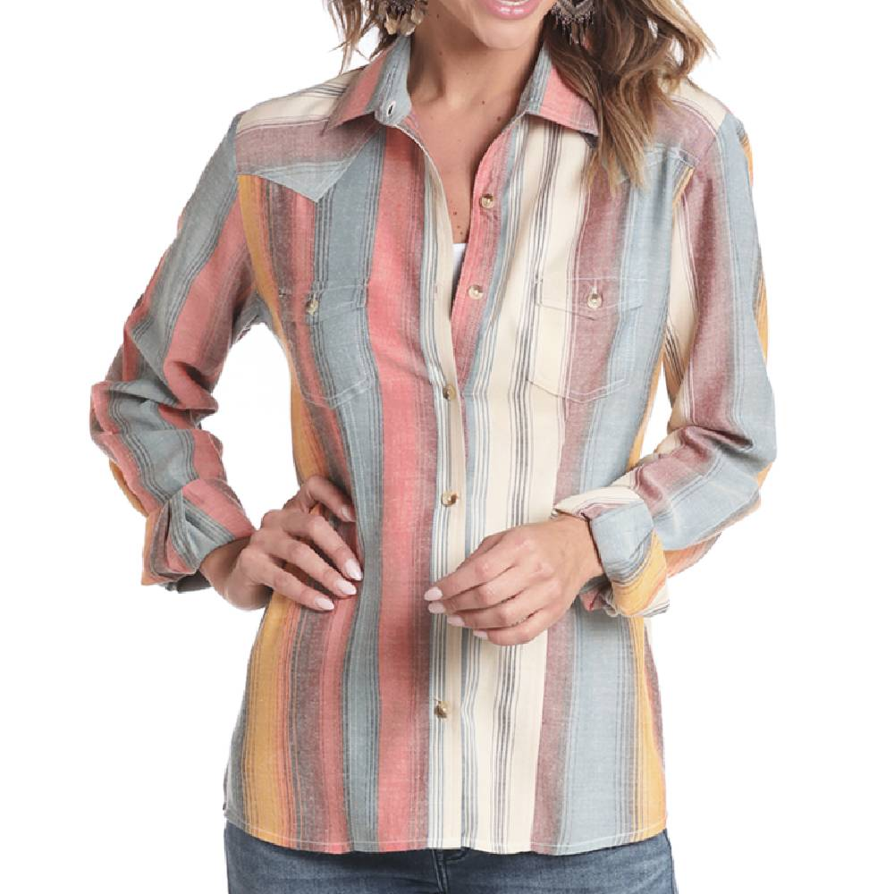Panhandle Serape Print Button Up Shirt WOMEN - Clothing - Tops - Long Sleeved Panhandle Teskeys