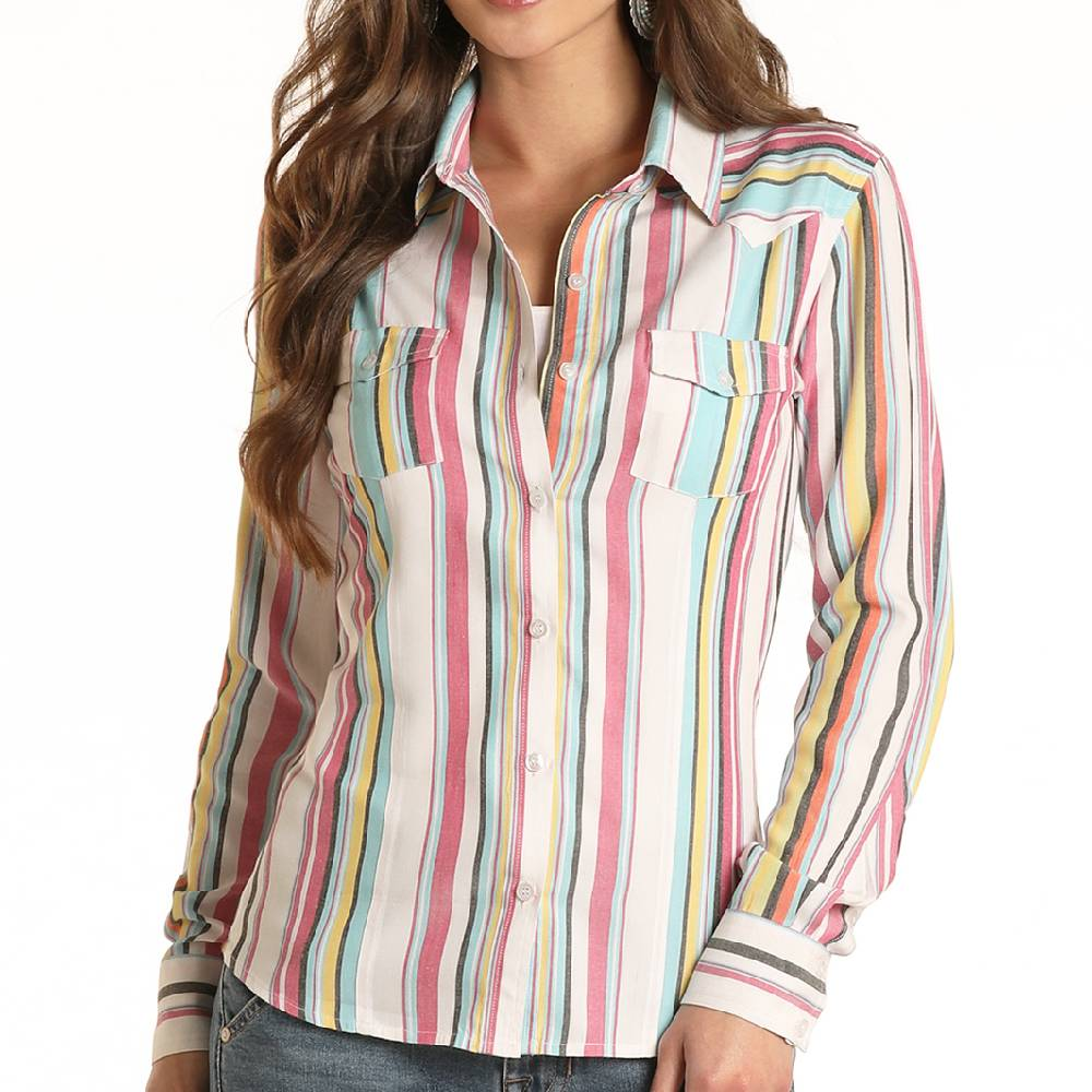 Panhandle Western Stripe Button Up Shirt