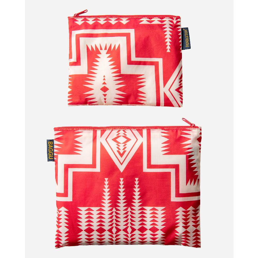 Pendleton Harding Red 2 Pack Zip Pouch WOMEN - Accessories - Handbags - Clutches & Pouches PENDLETON Teskeys