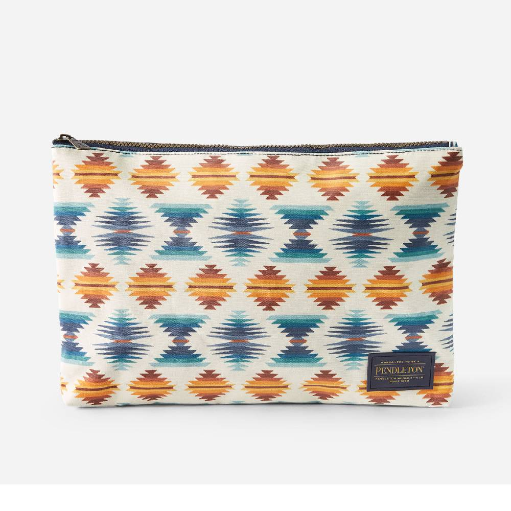 Pendleton Falcon Cove Sunset Canvas Big Zip Pouch WOMEN - Accessories - Handbags - Clutches & Pouches PENDLETON Teskeys