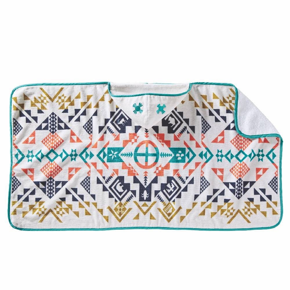 Pendleton Hooded Baby Towel - Shared Spirits Ivory KIDS - Baby - Baby Accessories PENDLETON Teskeys