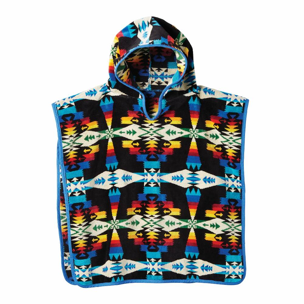 Pendleton Kid's Jacquard Hooded Towel - Tucson Black KIDS - Baby - Baby Accessories PENDLETON Teskeys
