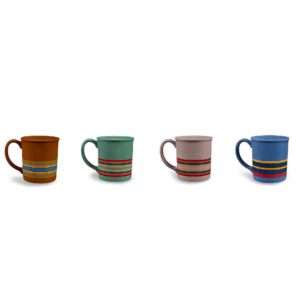 Pendleton Camp Stripe Mugs - Set of 4 HOME & GIFTS - Tabletop + Kitchen - Drinkware + Glassware PENDLETON Teskeys
