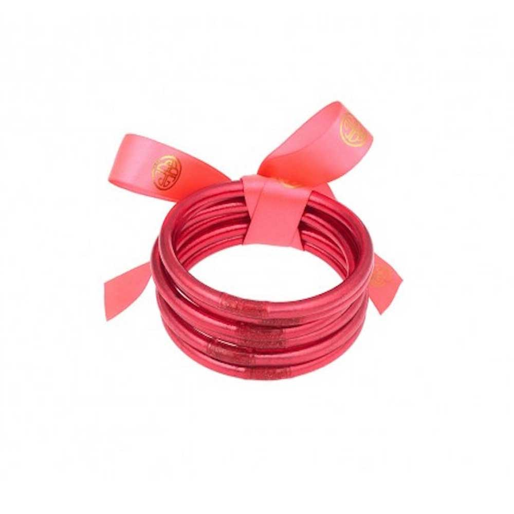 BuDhaGirl Pink All Weather Bangles WOMEN - Accessories - Jewelry - Bracelets BuDhaGirl LLC Teskeys